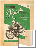 Speede Racer Wood Print by Unknown Rocket 68