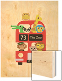 London Bus Zoo Wood Print by Dicky Bird