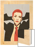Annie Lennox Wood Print by Emily Gray