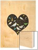 A Group of Birds Is Called a Flock Wood Print by Francesca Iannaccone