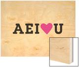 AE I Love U Wood Print by Coni Della Vedova