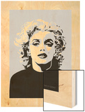 Marilyn - Goodbye Norma Jean Wood Print by Emily Gray