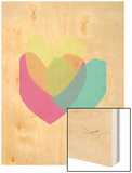 Bright Hearts Wood Print by Seventy Tree
