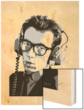 Elvis Costello Wood Print by Emily Gray