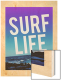 Surf Life Wood Print by Leah Flores