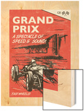 Grand Prix Wood Print by Unknown Rocket 68