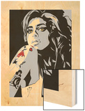 Amy Winehouse Wood Print by Emily Gray