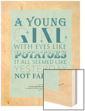 Eyes Like Potatoes Wood Print by Peter Reynolds