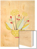 Flower Pot Wood Print by Catherine Aguilar