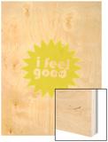 Feel Love Wood Print by Coni Della Vedova