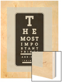 The Most Important Things Wood Print by Coni Della Vedova