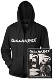 Zip Hoodie: Discharge - Hear Nothing (Front/Back) Sudadera con cremallera
