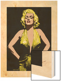 Marilyn - Some Like it Hot Wood Print by Emily Gray