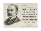 Advertisement, Thomas Hardy Giclee Print