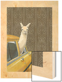 Taxi Llama Wood Print by Jason Ratliff