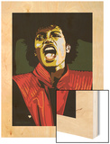 Michael Jackson - Thiller Wood Print by Emily Gray