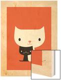 Two Cats Wood Print por Dicky Bird