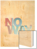 No Way Wood Print by Philip Sheffield