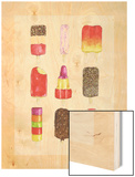 Ice Lollies Wood Print by Alexandra Rolfe