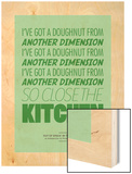Ive Got a Doughnut from Another Dimension Wood Print by Peter Reynolds