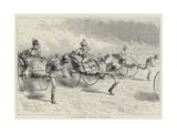 A Jinriksha Race, Ceylon Giclee Print