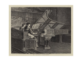An Artist's Pianoforte Giclee Print