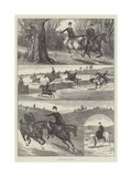 A Paper Chase in Surrey Giclee Print