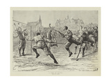 A Game of Hockey Gicleetryck