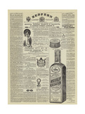 Page of Advertisements Giclee Print