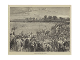 Coursing at Altcar Giclee Print