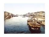Pleasure Boats on the Loire in Nantes, Pub. 1890-1900 Giclee Print