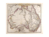 Map of Australia, 1872 Giclee Print