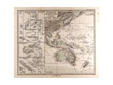 Map of Polynesia and Oceania, 1872 Giclee Print