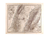 Map of Palestine, 1875 Giclee Print