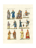 Chinese Dresses Giclee Print