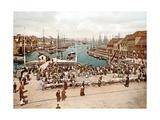 Fisketorget, Bergen, Pub. C.1900 Giclee Print