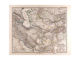 Map of Iran, 1876 Giclee Print