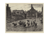 Horse-Racing in Rome During Carnival Time Giclee Print