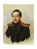 Portrait of Mikhail Lermontov, C.1838 Giclee Print