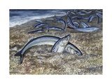 California Grunion (Leuresthes Tenuis), Atherinopsidae Giclee Print