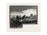 Nova Scotia, Drying Codfish, Canada, Nineteenth Century Giclee Print
