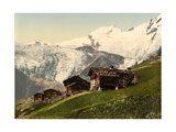 Saas Fee, Alpine View, Valais, Alps Of, Switzerland, C.1890-C.1900 Lámina giclée