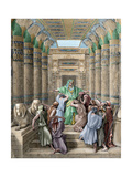 Joseph Recognized by His Brothers Giclée-tryk