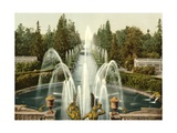 Peterhof, Towards the Sea, St. Petersburg in Russia, C.1890-C.1900 Giclee Print