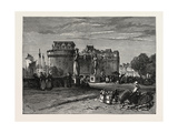 View in Nantes, on the Loire, France Giclee Print