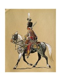 Hungarian Noble Guard on a Horse, Austria Giclee Print