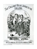 The Gallant Blue Jackets of England Giclee Print