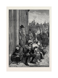 The State of Ireland: Scene Outside the Courthouse Galway 1880 Giclee Print