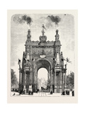 Belgium: the Memorial Arch of Triumph at Brussels, 1880 1881 Giclee Print