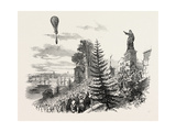 Ascent of M. Poitevin's Balloon from Nantes, France - Giclee Baskı